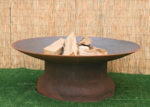Custom Made Fire Pit. Round Steel. Backyard Firepit. Steel Fire Bowl. Steel Garden Sculpture. Steel Yard Art.