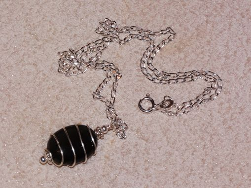 Custom Made Gemstone Pendant In Sterling Silver Spiral Wrap