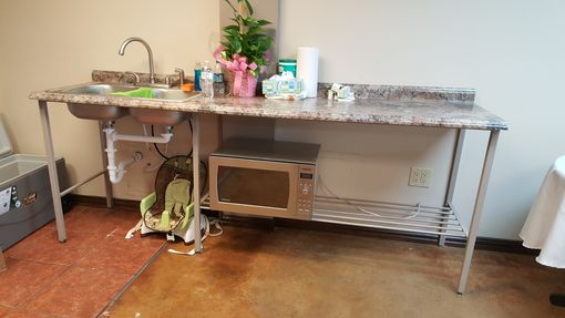 Custom Made Commercial Counter And Sink.