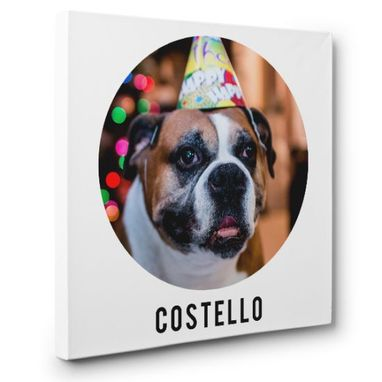 Custom Made Personalized Pet Portrait Custom Photo Canvas Art