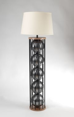 Custom Made Steel 12 Floor Lamp