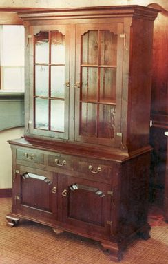 Custom Made Elegant Walnut China Cabinet