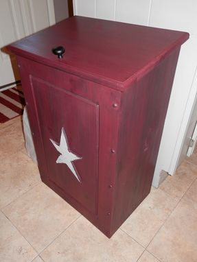 Custom Made Handmade Trash Can Container
