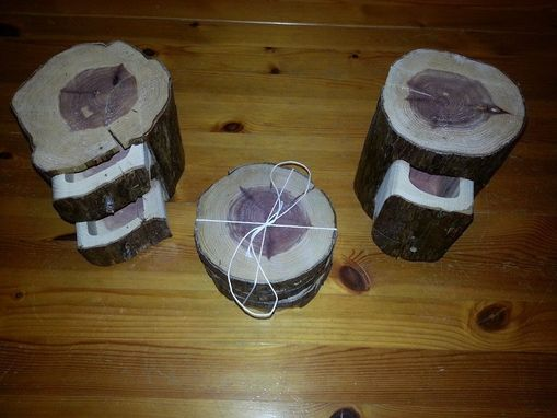 Custom Made Cedar Log Boxes And Coaster Sets