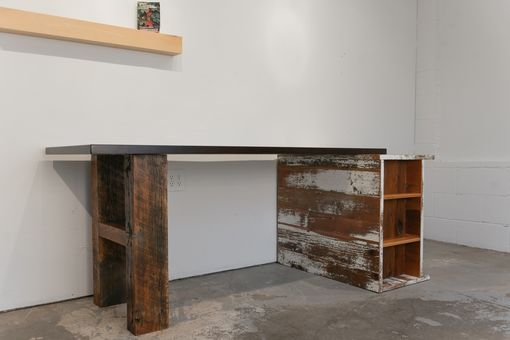 Custom Made Reclaimed Barnwood Desk
