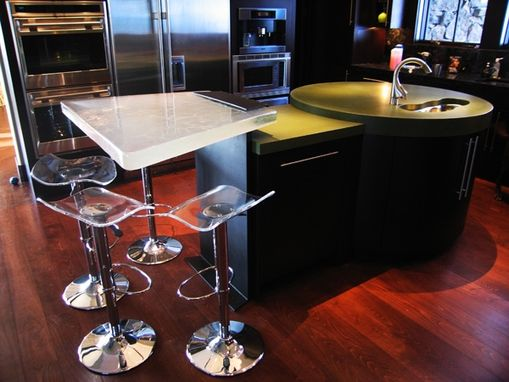 Custom Made Glass Bridge /Table Denver Private Residence