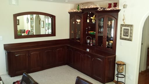 Custom Made Corner Buffet And Mirror