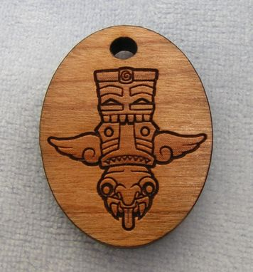 Custom Made Laser Etched Wood Pendant
