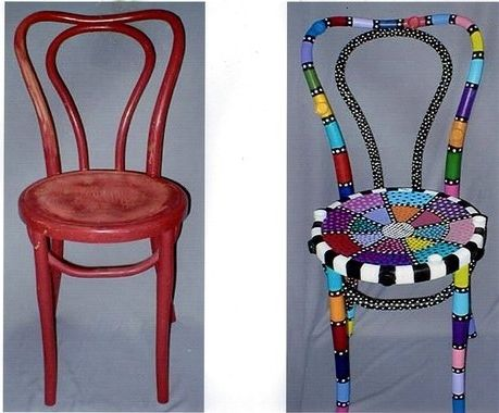 Custom Made Old Chair>Now New Chair