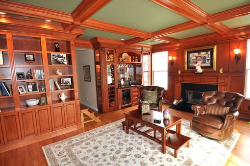 Custom Made Den And Fireplace Cabinetry & Millwork