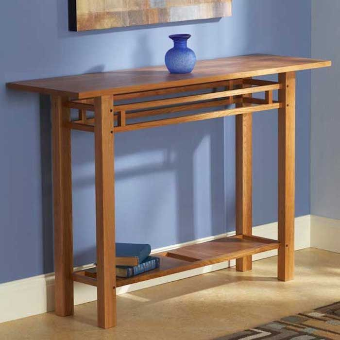 Buy a custom arts and crafts style hall table made to for Arts and crafts furniture makers
