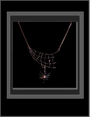 Custom Made Original Designer Spider Web With Black Gem Spider,Necklace,Custom,One Of A Kind,Spider Web, Spider,Jewelry,Necklace,Pendant,Web,Goth,Gothic,Halloween,Spiders,Bugs,Insects,Mother Daughter,Sister