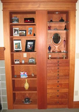 Custom Made Built-In Display Cabinet