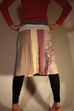 Custom Made Eco Upcycled Snowy Garden Skirt-Size Small/Medium (4/6)