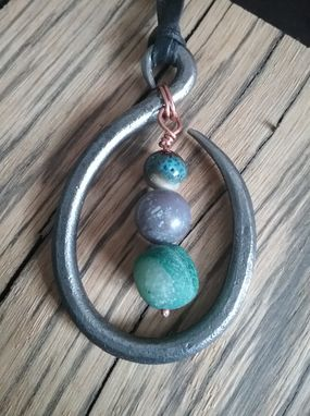 Custom Made Stone And Steel Pendant