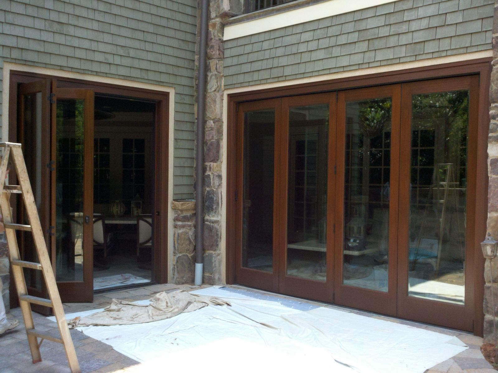 Custom folding doors charlotte nc by the looking glass for Custom made doors