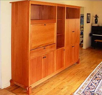Custom Made Free Standing Mahogany Wall Unit