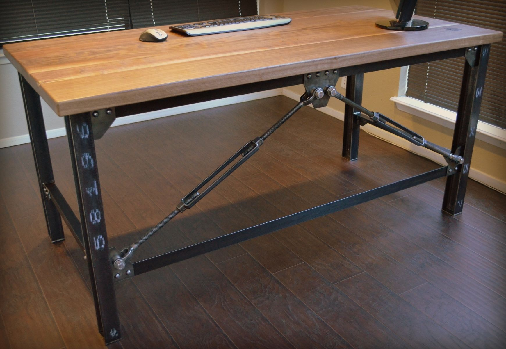 industrial office desk farmhouse custom made industrial executive desk by urban works