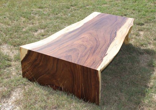 Custom Made Live Edge Slab Coffee Table Or Bench