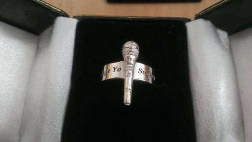 Custom Made Sterling Silver Microphone Music Ring