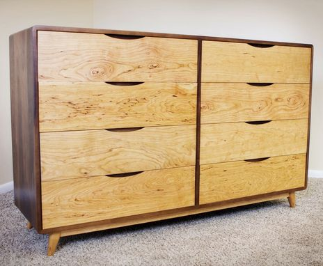 Custom Made Eight-Drawer Danish Mid Century Modern Dresser