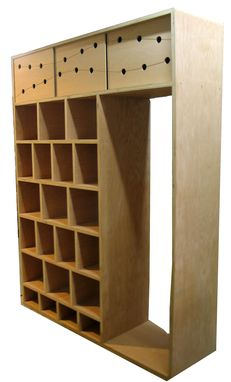 Custom Made Yoga Studio Shoe Cubbie