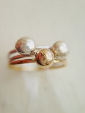 Custom Made Solid Gold - Planet And Orbit Ring - Recycled Solid Gold Ring, Lovegem Studio