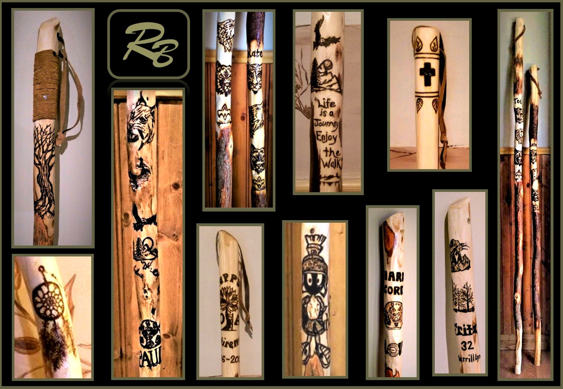 Buy A Hand Made Retirement Gift Employee Gift Hiking Stick