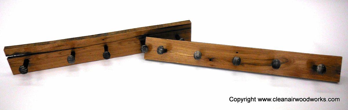 Custom Made Reclaimed Wood Railroad Spike Coat Rack - Buy A Hand Crafted Reclaimed Wood Railroad Spike Coat Rack, Made