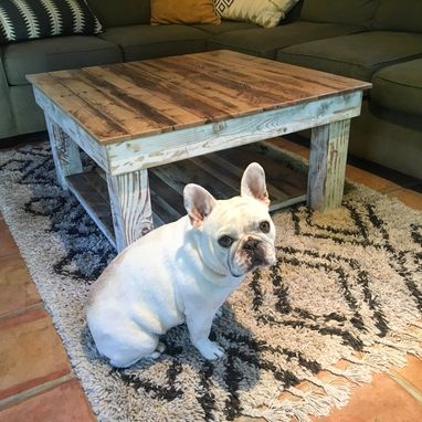 Custom Made Reclaimed Wood Rustic Coffee Table