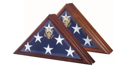 Custom Made Marine Corp Flag Case,Presidential Flag Display Case With Seal