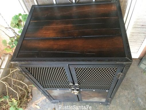Buy a Hand Crafted Industrial Steel Locking Liquor Cabinet, made ...