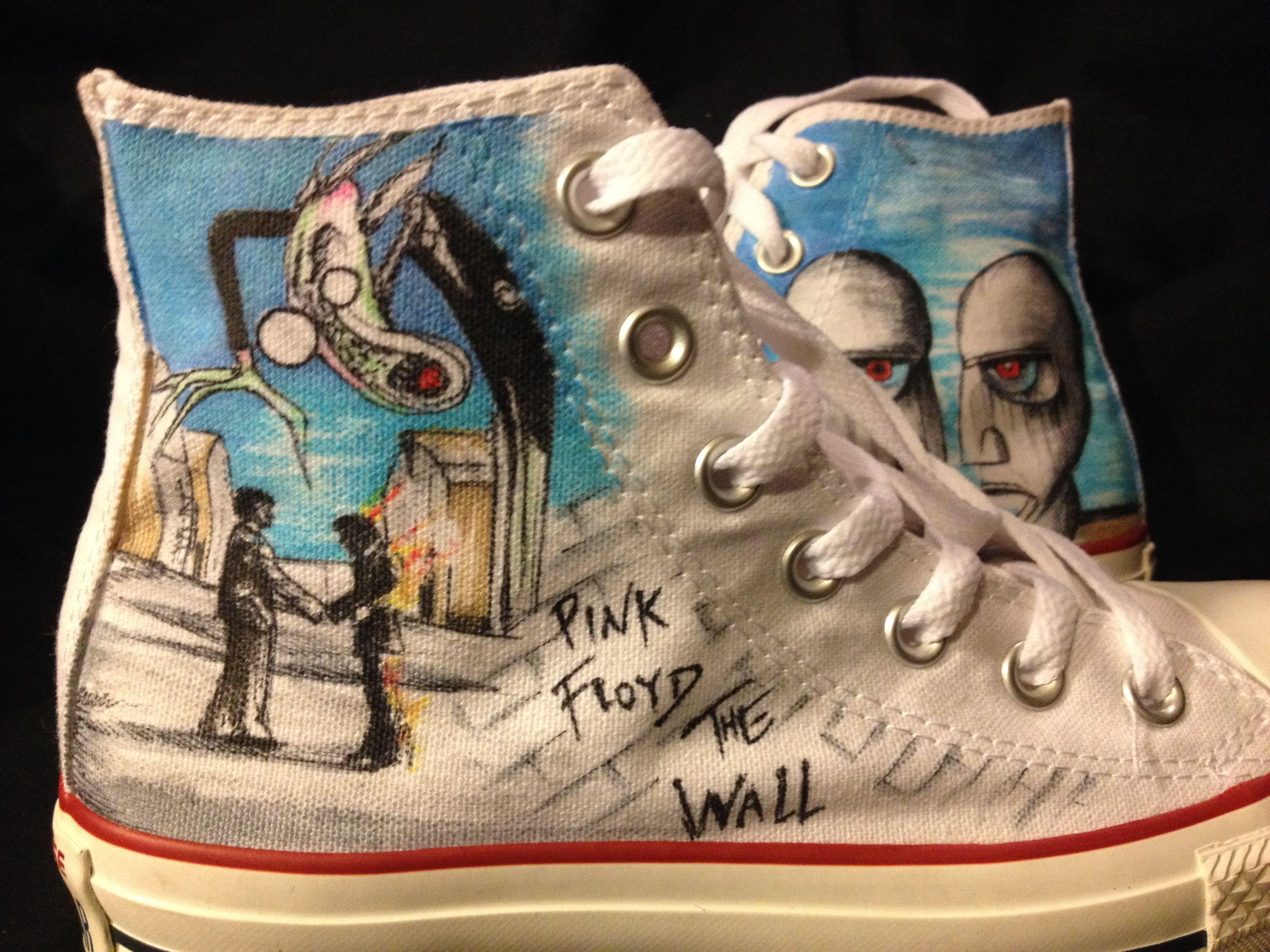 e9e3f7d25634ba Buy Hand Made Hand Drawn Pink Floyd Shoes