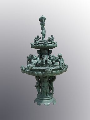 Custom Made Decorative Bronze Angels 3 Tier Fountain