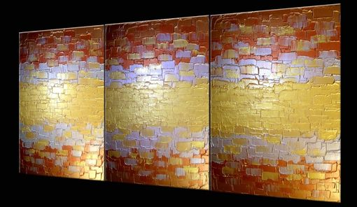 Custom Made Original Abstract Gold Painting, Palette Knife Art, Original Bronze Painting Lafferty - 48x20