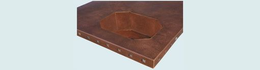 Custom Made Copper Countertop With Octagonal Sink & Clavos