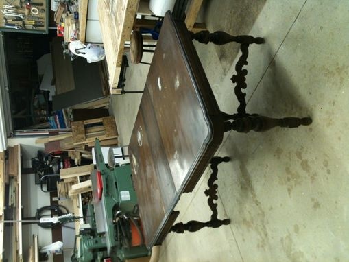 Custom Made Repair Of Family Heirloom Dining Table & Chairs