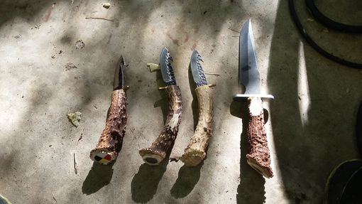 Custom Made Custom Deer Antler Handle Knives