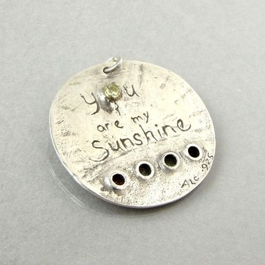 Custom Made Sterling Silver Birthstone Pendant