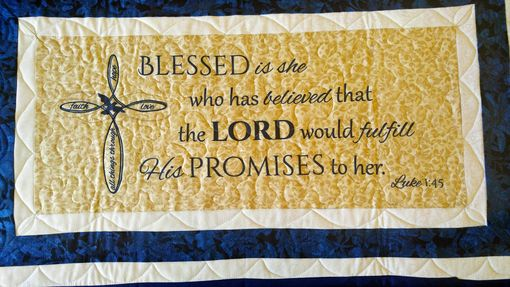 Custom Made Mothers Day Quilt - Psalm 16