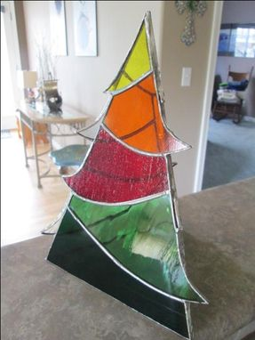 Custom Made Stained Glass 3d Tree