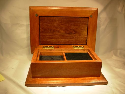 Custom Made Raised Panel Jewelry Box With Tray
