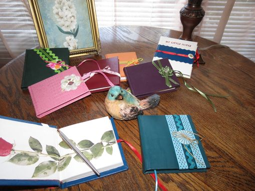 Custom Made Journal Grouping Of Original One Of A Kind Leather Journals