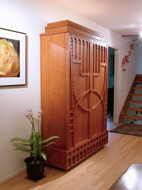 Custom Made Solid Cherry Armoire