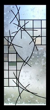 Custom Made Colorless Stained Glass With No Bevels