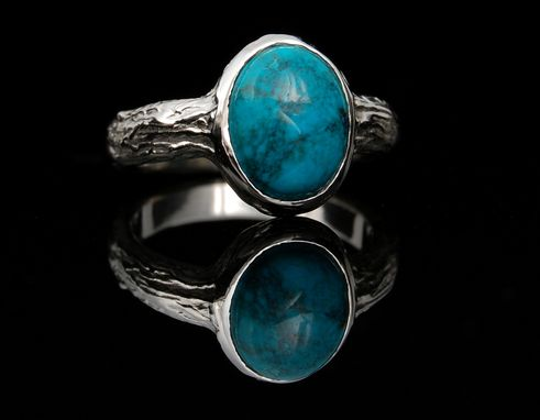 Custom Made 14kw Cabochon Turquoise Ring
