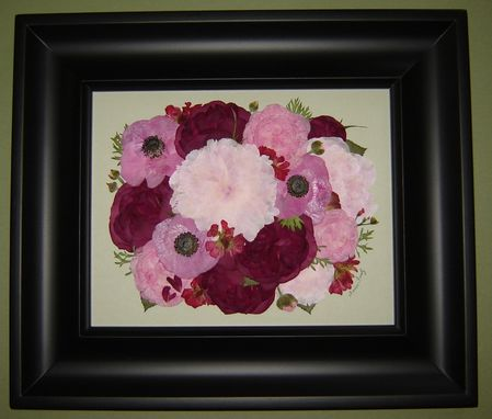 Custom Made Pressed Flower Art ~ Preserved Bridal Bouquet