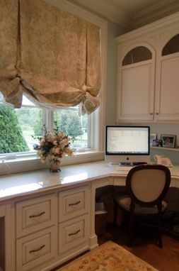 Custom Made Small Home Office In Painted & Glazed Finish