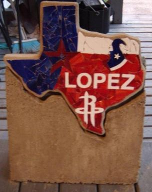 Custom Made Texas  Stepping Stone Base