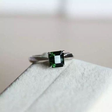 Custom Made 1.75 Carat Tourmaline Ring In 14k White Gold
